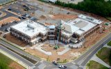 New Lilburn City Hall and Library aerial view