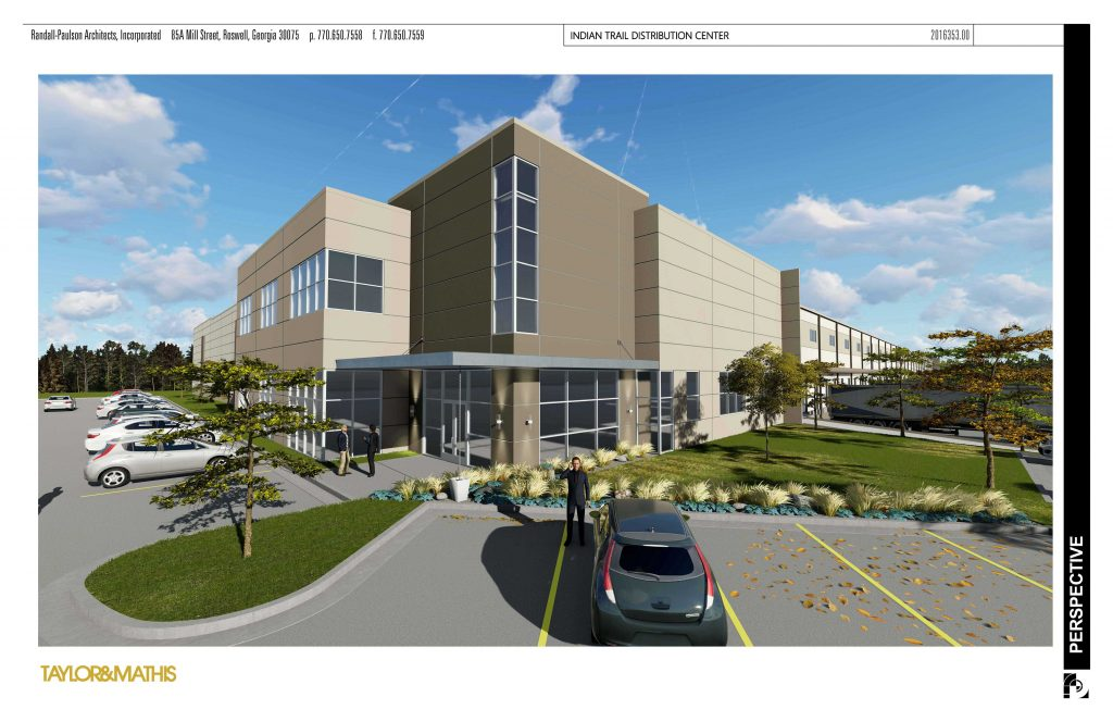 Taylor & Mathis Indian Trail Distribution Center rendering